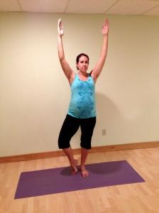 Prenatal Tree Posture Yoga Pregnancy