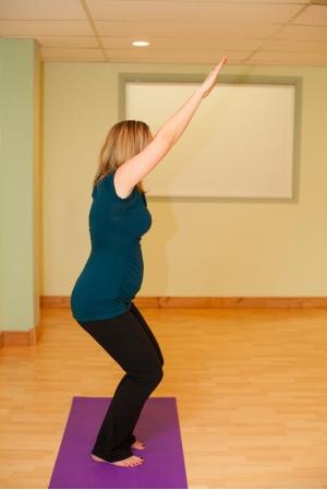 Ardha Utkatasana Chair 2 Yoga Pubic Symphysis