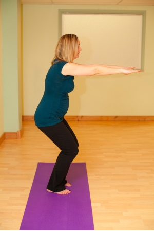 Ardha Utkatasana Chair Pose 1 Yoga Pubis Symphysis