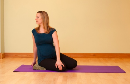 Safe Prenatal Yoga Twist for Pregnancy
