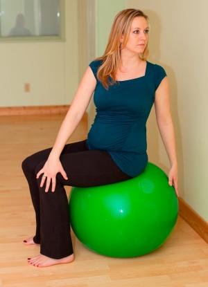 Safe Twist Pregnancy Yoga on Ball