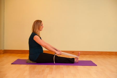 Seated Forward Fold Prenatal Yoga